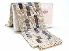 Shining Night Beadwoven Cuff Bracelet Modern by littlestonedesign