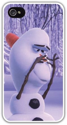 Olaf Baby Unicorn Nose Cell Phone Case Cover iPhone 4 4S 5 5S 5C Samsung Galaxy S3 S4 S5 Frozen Snowman Disney Carrot $24.99+FREE SHIPPING!