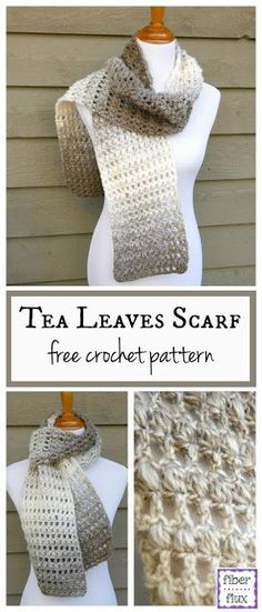 The Tea Leaves Scarf is elegant and easy to work up. Rows of double crochet and puff stitches give it beautiful texture and neutra...