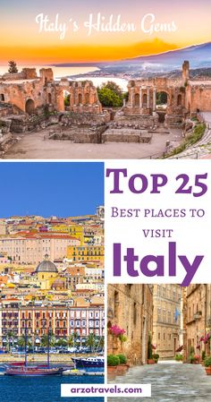 Hidden gems in Italy versus well-known destinations, find 25 most beautiful places in Italy to visit I Best cities in Italy I Best towns in Italy I best villages in Italy I best beaches in Italy I Where to go in Italy #italy
