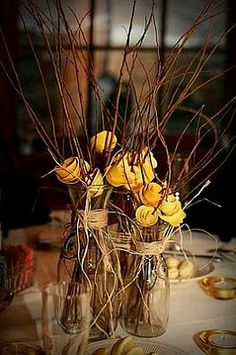 Dried flower centerpieces for rustic weddings - Google Search