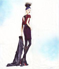 Fashion Illustrations by Denise Kuan, via Behance