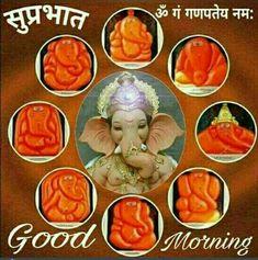 Good Morning Clips, Good Morning Wednesday, Good Morning Photos, Morning Pictures, Happy Wednesday, Baby Ganesha, Ganesha Art, Lord Ganesha, Ganesh Photo