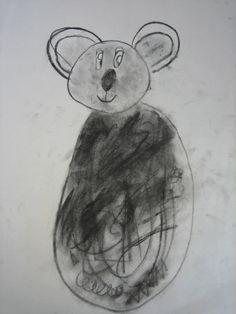 Charcoal Koala drawing.