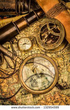 Httpwwwthedesignworkcomantiquemapsadventurebackgrounds - Antiques us maps with compass