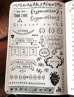 Nice journal ideas