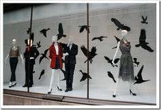 Window display idea for halloween at your boutique