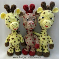 Smiley Crochet Giraffe | AllFreeCrochet.com