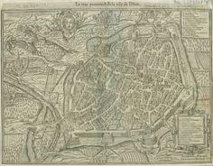 Le vray pourtraict de la ville de Dijon / Geometrice depinxit Edoardus Bredin, 1574