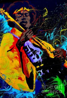 ' Hendrix 1 '   On Canvas or Framed Print