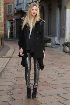 Logan Lerman - what a shine leather leggings