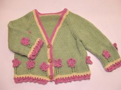 Design D - Cardigan with Flowers