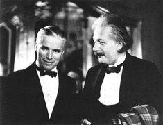 Charlie Chaplin and Albert Einstein.
