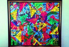 Tela: O Circo: Técnica Mista sobre tela. 100 x 90 cm. Á venda.