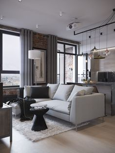 Ideas for house decorations living room loft Living Room Decor Cozy, Living Room Interior, Interior Design Kitchen, Modern Interior, Living Rooms, Living Area, Appartement Design, Loft Interiors, Loft Style