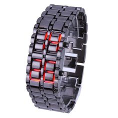 YESURPRISE LED Iron Samurai Lava Sport Digital Men Wrist Watches Red light -- Learn more by visiting the image link.Note:It is affiliate link to Amazon.