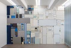 Michael Johansson__Shade, 2013 Ordinary items. Dimensions: 3.8 x 5.6 m.  Installation view: Galleri Andersson/Sandström, Stockholm (SE)