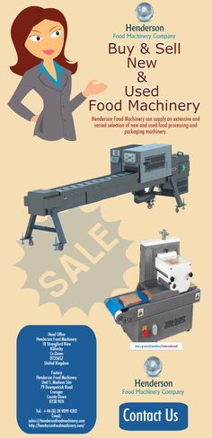Henderson Food Machinery is one of the best place to buy and sell all kind of food processing machines. Come to us, feel free and satisfied. We will provide you best quality products and great service.