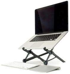Roost Portable Laptop Stand — Adjustable height, collapsible, lightweight (5.5 oz.), fits almost all laptops
