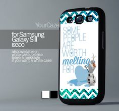 Chevron Olaf Disney Frozen Quote, For Samsung s3 Hard Plastic Black | YourCazeMate - Accessories on ArtFire