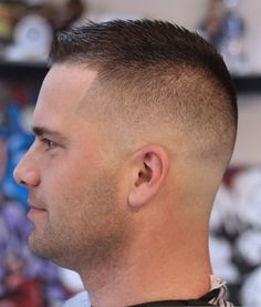 Buzz Cut Fade Styles for Men - Black Haircut Styles Fall Hair Cuts, Thin Hair Cuts, Thick Hair, Cool Short Hairstyles, Boy Hairstyles, Military Hairstyles, Man Short Hairstyle, School Hairstyles, Popular Hairstyles