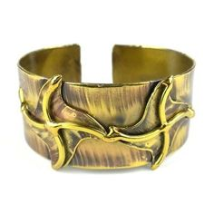 Brass Pinwheels Cuff - Brass Images (C)