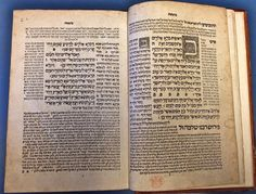 Torat Adonai,  Constantinople: Eliezer ben Gershom Soncino,  1546. Beginning of Genesis with 2 woodcuts of the Hebrew letter 'bet' (BL Or. 70.c.10).