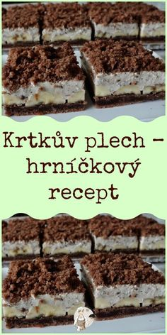 Czech Desserts, Sweet Desserts, Sweet Recipes, Baking Recipes, Dessert Recipes, Czech Recipes, Sweets Cake, Holiday Baking, No Bake Cake