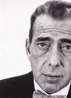Humphrey Bogart, 1953, photo by Richard Avedon. Love the bow tie.  viasteamboatbilljr