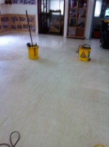 HELP!  AFTER PHOTO.   CALL AGENTJ to seal and polish that old playcentre floor to perfection. No need for lino replacement.  www.agentj.co.nz  0211924368