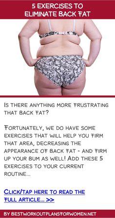 5 exercises to eliminate back fat