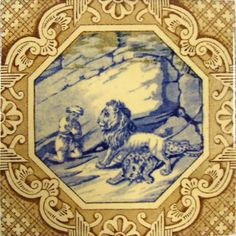 Variety of Scenes (Dutch Border) - Minton Hollins & Co - The Decorated Tile Wiki