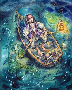 Pirate Art, Pirate Life, Anime Pirate, Pirate Crafts, Pirate Ships, Caribbean Art, Pirates Of The Caribbean, Jack Sparrow Wallpaper, John Deep