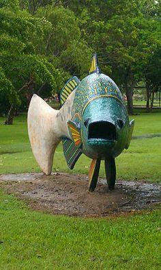 Mosaic fish. Wanguri School, Darwin, Australia