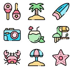 icon packs of nature Mini Drawings, Kawaii Drawings, Easy Drawings, Kawaii Doodles, Cute Doodles, Doodle Icon, Doodle Art, Unicorn Pictures, App Icon Design