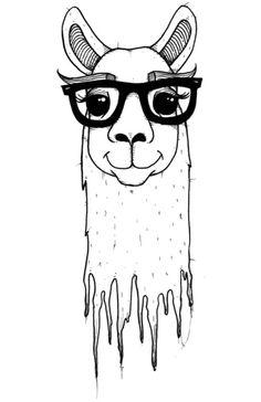 Hipster llama Art Print #summerinthecity #modernnursery