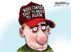 Political Cartoons on the 2016 Election: Make Canada Easy to Move to Again