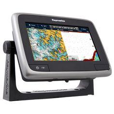"Raymarine a77 Wi-Fi 7"" MFD Touchscreen w/ClearPulse™ Digital Sonar - Lighthouse Navigation Charts - NOAA Vector"