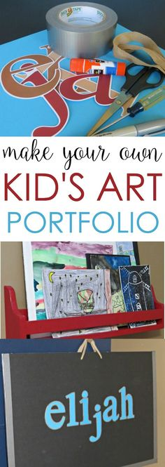Need a way to store all your kid's artwork? Make a kid art portfolio using materials you probably already have in your junk drawer at home. It's super easy!