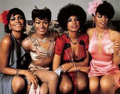 "Pointer Sisters - four sister from Oakland who had a steady diet of gospel in the home. Exposure to, and love of, secular music occurred when visiting friends. Once they were of age, they became backup singers and ultimately landed a record contract in 1973. Their initial hits were penned by Allan Toussaint, but then they branched out into various genres, seemingly having success with each. In all, they placed 15 Top 40 singles in as many years. They're best known for ""I'm So Excited"" and…"
