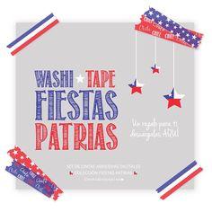 {NUEVO POST} en el Blog! www.tallerdepapel.net   Lindos WASHI TAPE GRATIS, como regalo a todas mis seguidoras Chilenas, para  celebrar nuestras Fiestas Patrias! #tallerdepapelbyangelica #imprimetufiesta #washitape #digitalgraphic #digitalwashitape #etsy #etsyshop #chile #patriotic #patrioticwashitape #vivachile #fiestaspatrias #fiestaspatriaschile