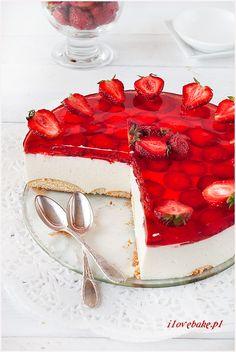 Strawberry cheesecake recipe / Sernik na zimno ilovebake.pl