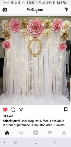 Quinceanera Party Planning – 5 Secrets For Having The Best Mexican Birthday Party Backdrop Decorations, Birthday Decorations, Wedding Decorations, Paper Flower Backdrop, Paper Flowers, Baby Shower Themes, Baby Shower Decorations, Party Kulissen, Quinceanera Party