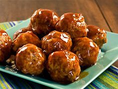 Sweet Sour and Spicy Ham and Sausage Meatballs -- Perfect for any party or tailgate, these meatballs are a great appetizer to get the fun started. #Appetizer #SlowCooker