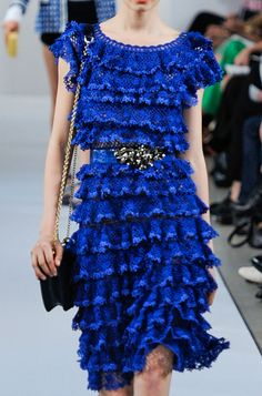 Phenomenal Fashion - Spring 2013 Oscar de la Renta Ruffled crochet dress