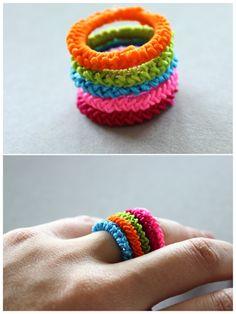 DIY - Umhäkelte Ringe mit Diamonds und Concrete Kerzenhalter Verlosung