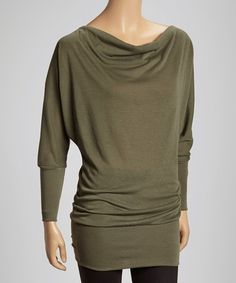 Loving this Olive Dolman Top on #zulily! #zulilyfinds