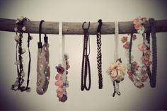 A branch for organizing headbands or necklaces