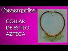 DIY:Collar de estilo azteca.Collar de moda.