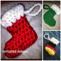 The Gimpy Hooker: FREE CROCHET PATTERN: Marvelous Mini Stocking Ornament